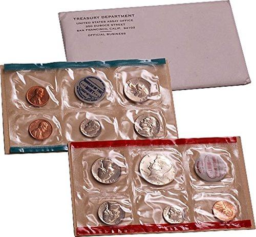 1969 U.S. Mint Set – 10 coin set 40% Silver Half Dollar