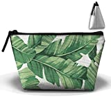 Portable Travel Storage Bags Tropical Plant Banana Tree Leaves All Printed Clutch Wallets Big Pouch Purse Zipper Holder For Kits Medicine And Makeup Bag