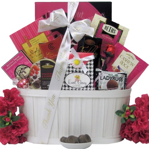 Great Arrivals Gourmet Thank You Gift Basket, Sweet and Trendy