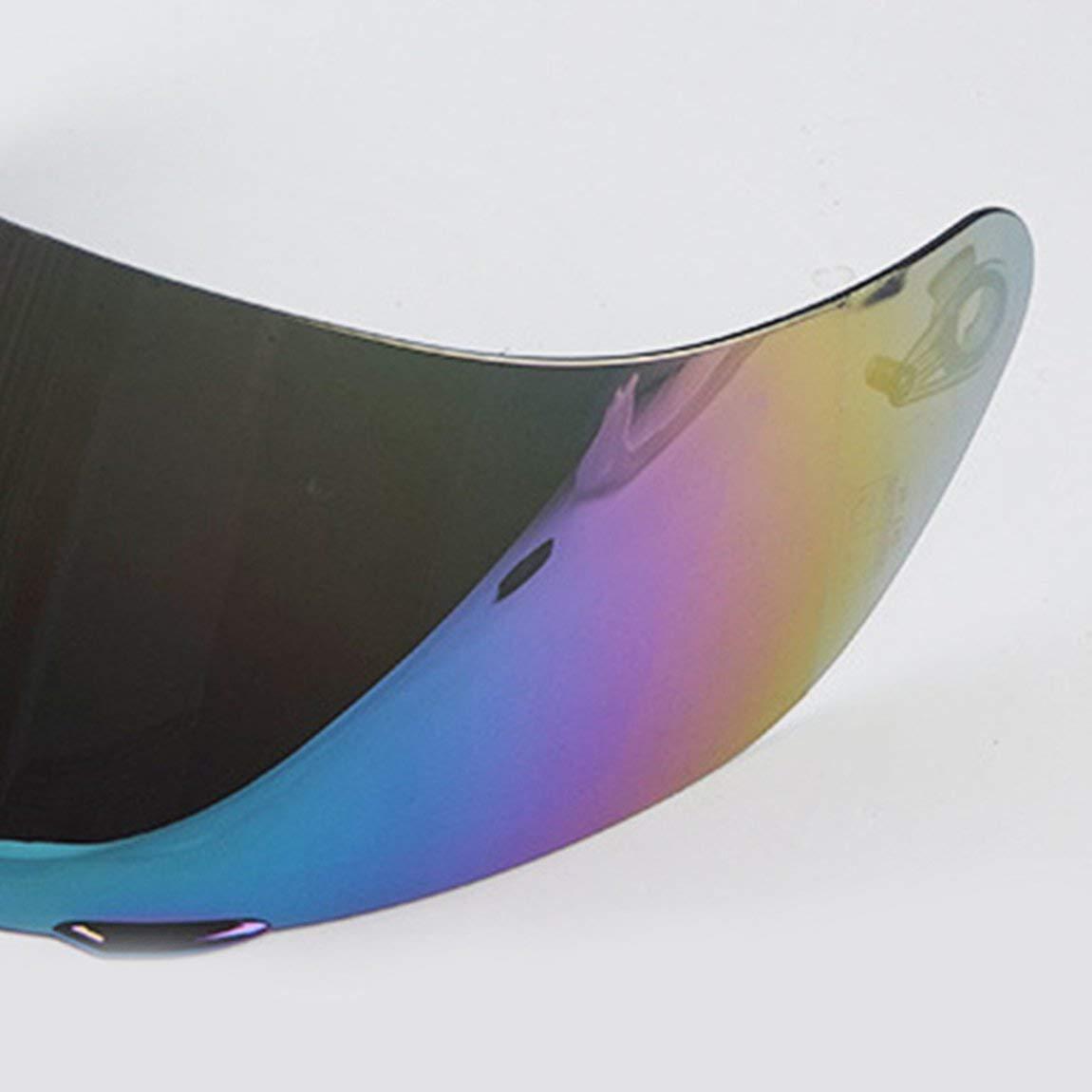 Couleur: Argent Casque Visi/ère Visi/ère int/égrale de Remplacement pour Objectif de Moto Con/çu pour Le Casque 902 AGV K3 SV K5 K1