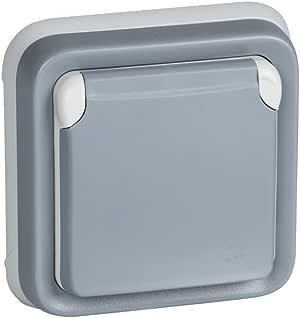 Legrand, 191512 Plexo - Enchufe de pared, enchufe estanco de empotrar de la gama Plexo, enchufe exterior, resistente al agua (IP55), color gris: Amazon.es: Bricolaje y herramientas