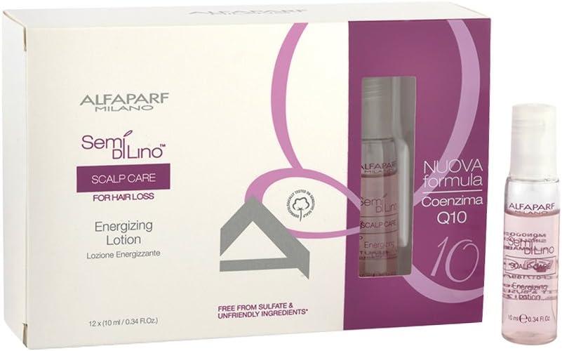 Alfaparf Semi di lino Scalp care Energizing lotion 12x10ml - Loción energizante: Amazon.es: Salud y cuidado personal