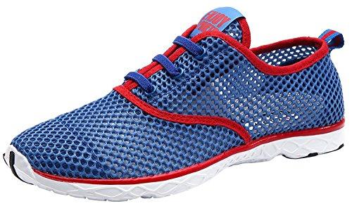 Rot Schuhe Trocknend Aquaschuhe Schnell Lace Sportschuhe Wasser Herren Mesh Up Atmungsaktives 1WqOR