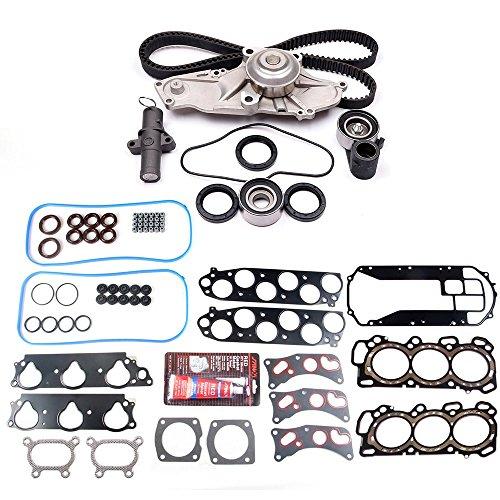 Head Sohc Gasket V6 - SCITOO Timing Belt Water Pump Kit and Head Gasket Sets Fits 03-06 Acura MDX 06-08 Honda Pilot Ridgeline 05-09 Honda Odyssey 3.5L V6 SOHC VTEC 24v
