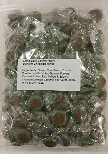 (Starlight Chocolate Mints 2 Lbs Bulk Hard Candy Discs Approximately 160 Pieces)