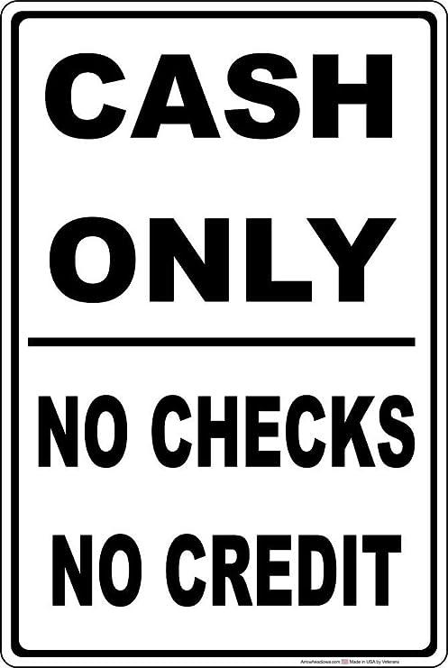 Amazon Pottelove Cash Only No Checks No Credit Business