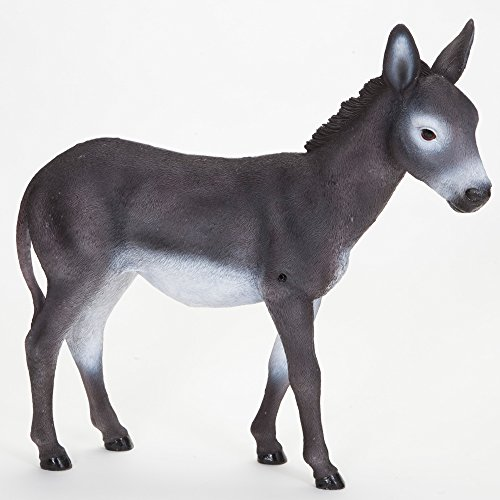 Bits and Pieces - Diego The Donkey Motion Sensor Statue - Weather Resistant, Hand-Painted Polyresin Sculpture - Garden - Hand Painted Polyresin Decorations