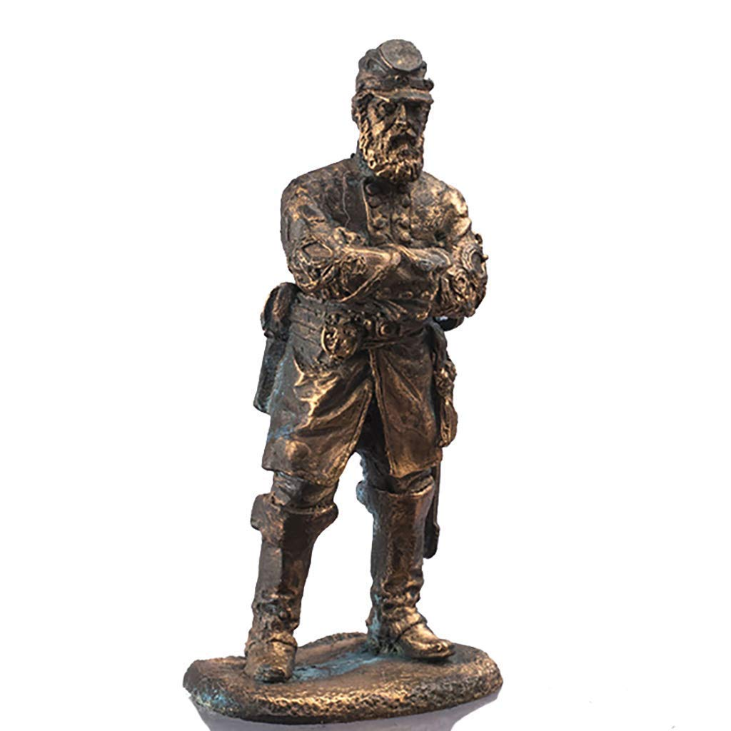 Jackson 'Stonewall' Confederate General Civil War in 1865 in the United States. 54mm collectible statue. Copper figur sculpture Gift for man