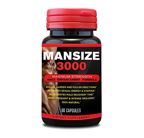 MANSIZE 3000 - Natural Male Enhancement - 60 Capsules
