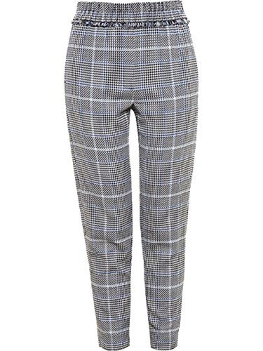 3.1 Phillip Lim Frayed Dogtooth Trousers in Black Check, 0 (3.1 Lim Phillip Trousers)