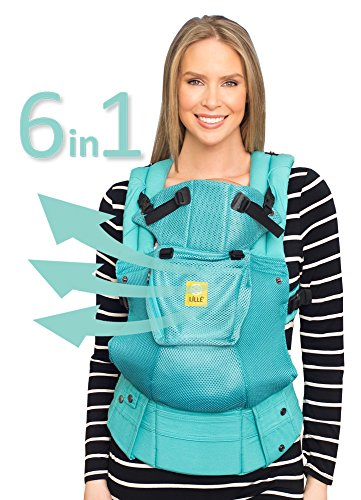 LÍLLÉbaby Complete Airflow 6-in-1 Ergonomic Baby & Child Carrier, Caribbean Sea - Breathable Mesh (Best Hiking In The Caribbean)