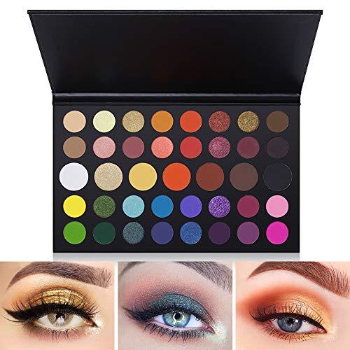 39 Colors Eyeshadow Palette Fantasy Matte Shimmer Makeup Pigmented Eye Shadow Natural Smooth Long Lasting Waterproof Cosmetics (Best Cheap Eyeshadow Palette 2019)
