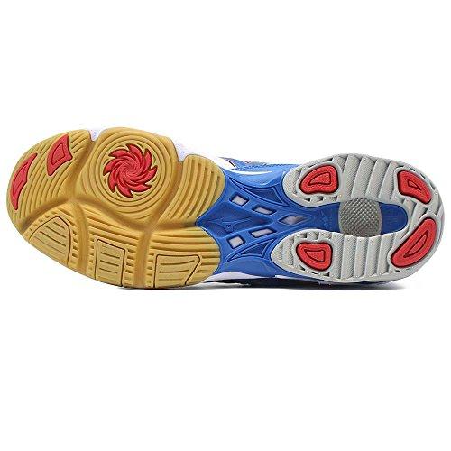 Mizuno Wave Bolt 2 MID - Scarpe da Pallavolo - White/Blue/Red