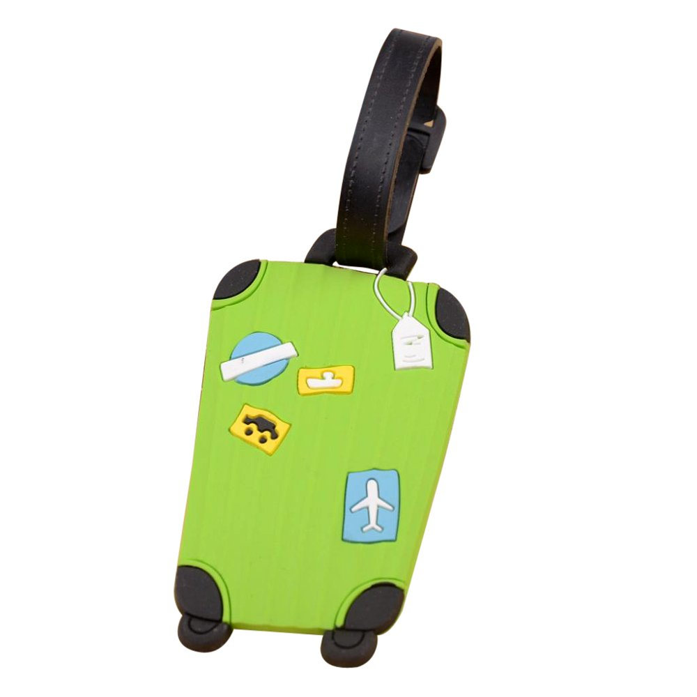 Outtop Durable Personalized Cute Suitcase Luggage Bag Tags 8 x 5cm (Green) by OutTop (Image #1)