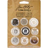 Accoutrements Buttons by Tim Holtz Idea-ology, Fanciful, 9 per Pack, Various Sizes, Plastic, TH92873