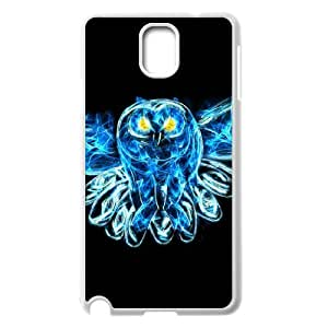 Diy Beautiful Owl Phone Case for samsung galaxy note 3 White Shell Phone JFLIFE(TM) [Pattern-2]