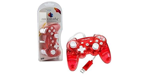 PDP - Mando Con Cable Rock Candy, Color Rojo (PS3): Amazon.es: Videojuegos