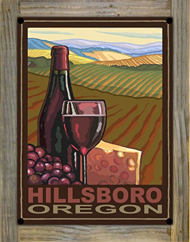 Hillsboro Oregon Wine Country Metal Print on Reclaimed Barn Wood by Paul A. Lanquist (9