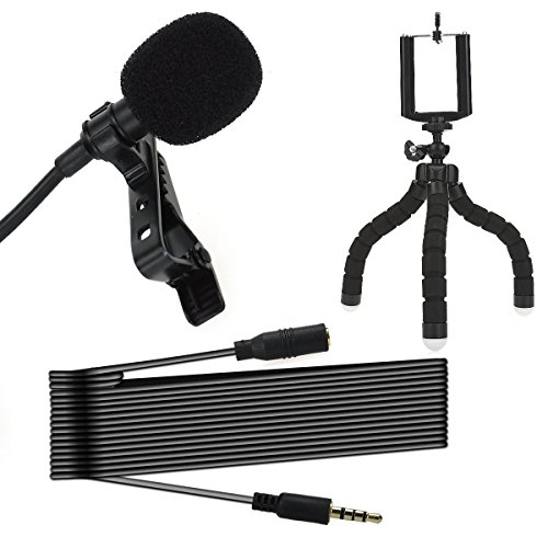 Cheap Instrument Professional Lavalier Micorphone Clip On Lav Mic Tabletop Octopus Phone Tripod Stand..