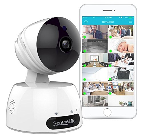 Indoor Wireless IP Camera - HD 7200p Network Security Surveillance Home Monitoring Featuring Motion Detection,...