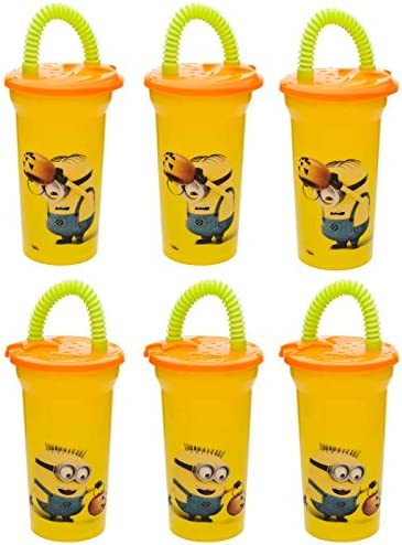6-Pack Despicable Me Minions Halloween Kids 410ml Fun Sip Tumbler Cup with Lid