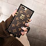 cruisertourism iPhone 7 Plus/8 Plus New Elegant Luxury PU Case, Wallet Monogram Style Cellphone Back Cover Case with Lanyards for iPhone 7 Plus/8 Plus, US Fast Deliver Guarantee