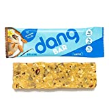 Dang Bar - KETO CERTIFIED, Low Carb, Low Sugar, Plant Based, Gluten Free, Real Food Snack Bar, 3g Sugar, 5g Net Carbs, No Sugar Alcohols or Artificial Sweeteners, 12 Count (Almond Vanilla)