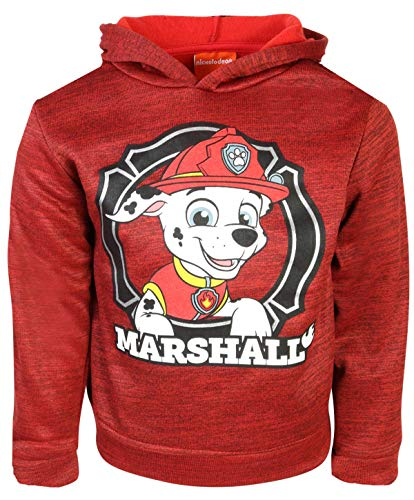 Nickelodeon Paw Patrol Boys Fleece Pullover Hoodie, Red Marshall, Size 2T'