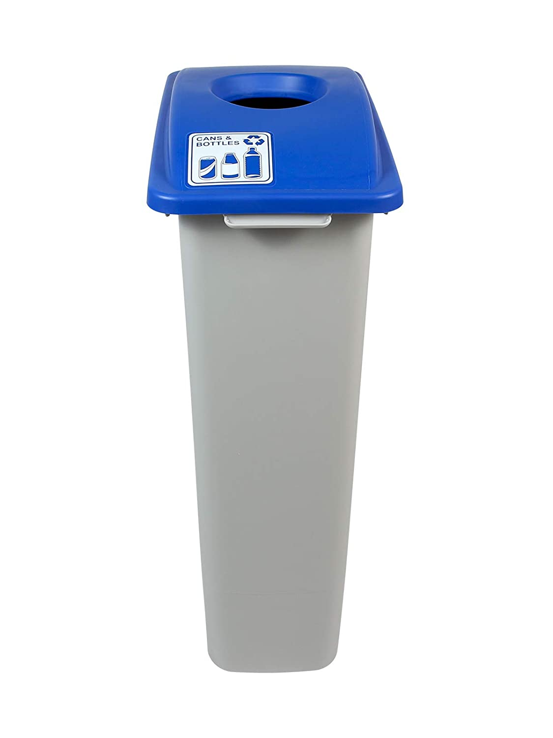 TM - Single 23 Gallon Recycling Bin Busch Systems Waste Watcher Cans /& Bottles