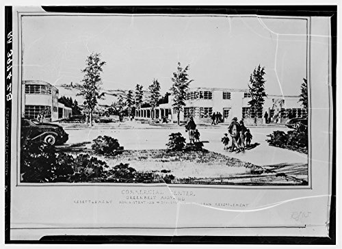 Commercial center. Greenbelt, Maryland by Historic Photos