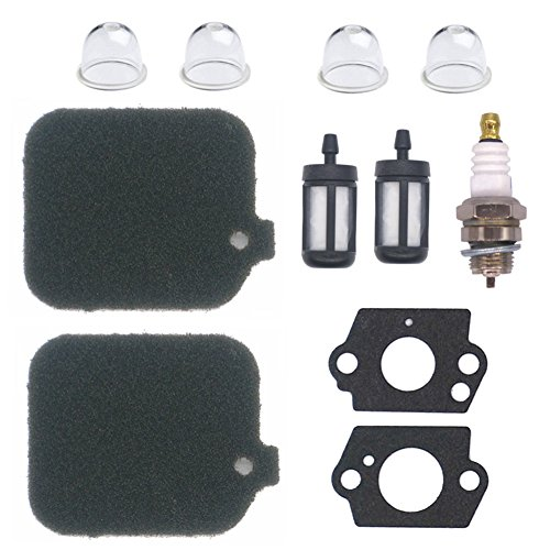 - NIMTEK 2 Pack Air Filter with Fuel Filter Spark Plug Gasket Primer Bulb Turn up kit for Stihl Blower BG45 BG46 BG55 BG65 BG85 SH55 SH85 BR45C