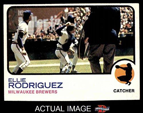 1973 Topps # 45 Ellie Rodriguez Milwaukee Brewers (Baseball Card) Dean's Cards 3 - VG Brewers Ellie Rodriguez Brewers