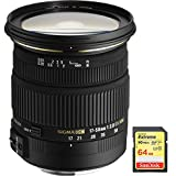 Sigma 17-50mm f/2.8 EX DC OS HSM FLD Zoom Lens for Canon DSLR Camera includes Bonus Sandisk 64GB Memory Card