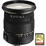 Sigma 17-50mm f/2.8 EX DC OS HSM FLD Zoom Lens for Canon DSLR Camera includes Bonus Sandisk 64GB Memory Card