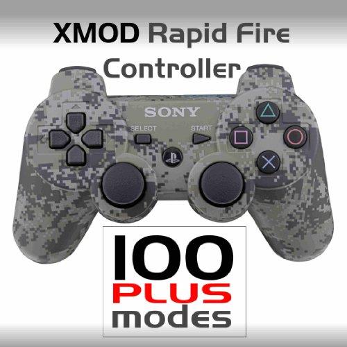 PS3 - PlayStation - SONY Dualshock 3 - Wireless Rapid Fire Modded Controller- XMOD Rapid Fire - 100 PLUS- COD GHOST, BLACK OPS - CAMO