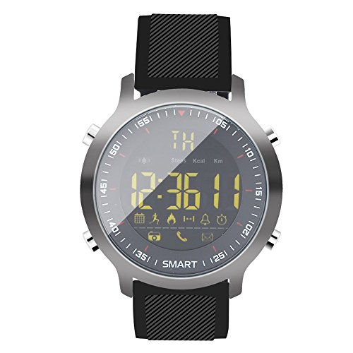 Intelligent Sports Watch, Waterproof Multi-Function Unisex Fitness Workout Black Watchllers. by Filfeel