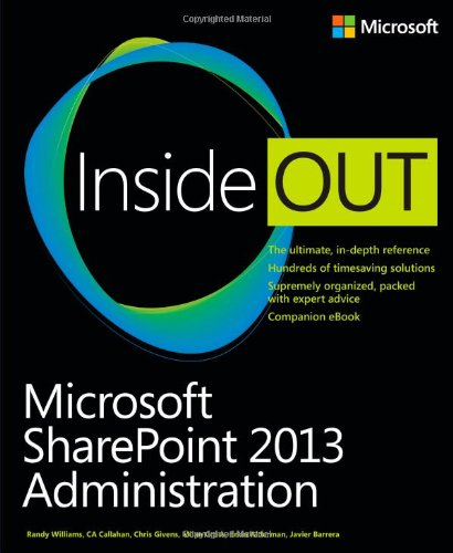 Microsoft SharePoint 2013 Administration Inside Out Front Cover
