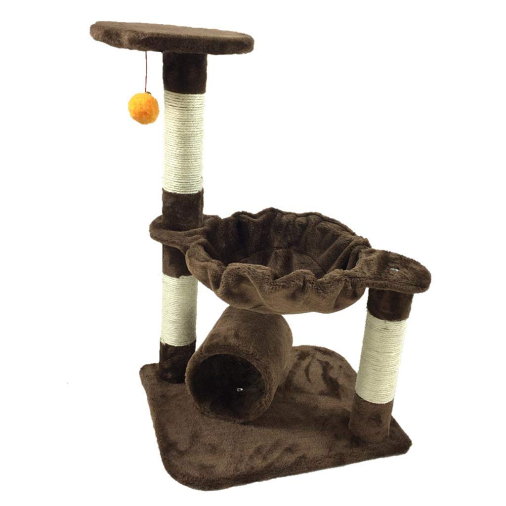 Brown AosyGFR Pet Cat Toy Cat Climbing Frame Cat Tree Jumping Table Grabbing Cat Furniture