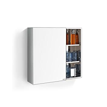 Amazon.de: OYY Manufacture Edelstahl Badezimmer Spiegel ...