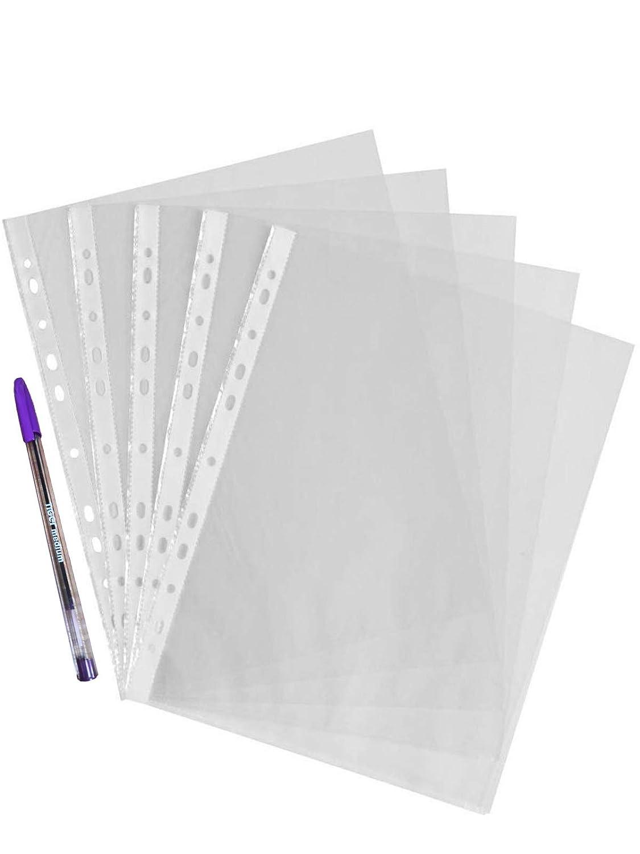 300 unidades Fundas de pl/ástico transparente A4