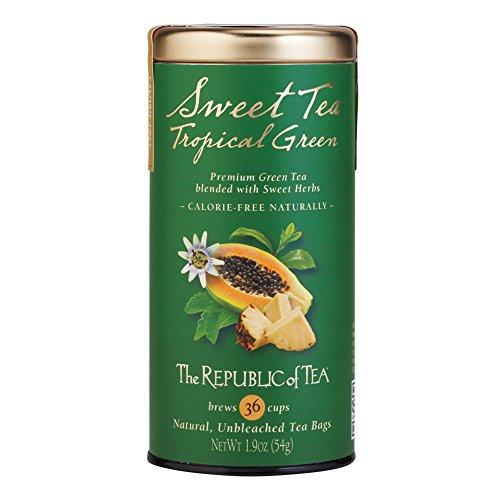 The Republic Of Tea Sweet Tea Tropical Green Tea, 36 Tea Bags, Exotic Fruit Tea With Naturally Sweet Herbs