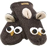 Old Glory - Unisex-adult Ozzie The Owl Knit Mittens Brown