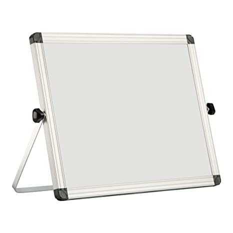 Small Dry Erase Board With Stand Ousl 14 X 11 Mini Magnetic White Board Easel For Kids Double Sided Portable Table Top Desktop Board