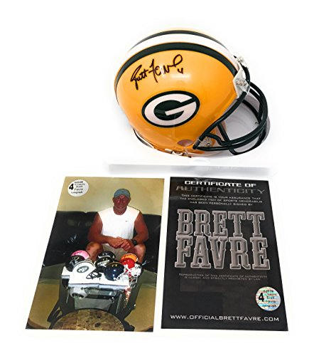 Brett Favre Green Bay Packers Signed Autograph Mini Helmet B Favre Certified from Mister Mancave
