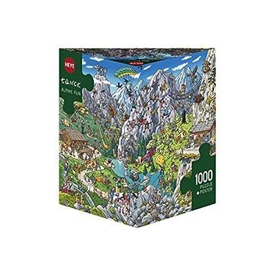 Heye Puzzle Alpine Fun Tanck Confezione Triangolare 1000 Pezzi 50 X 70 Cm Vd 29680