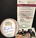 Fergie Jenkins Chicago Cubs Autographed Signed 2016 World Series Baseball Proof JSA COA 1st Pitch Game 4