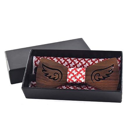 Corbatas de lazo para hombre Adulto de madera pajarita ahueca ...