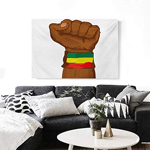 Rasta Modern Canvas Painting Wall Art Ethiopian Rebellion Symbol Wrist with Flag Colors Art Print Art Stickers 24