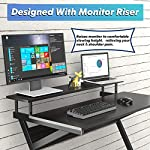 FITUEYES Computer Desk with Keyboard Wood Black Z-Shaped Writing Table Workstation for Home Office 100x60x84cm…