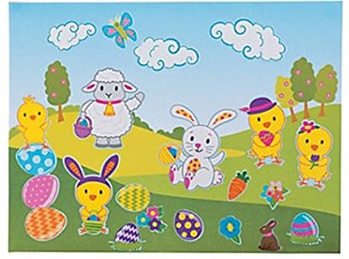 12 - Large Make Easter Bunny Sticker Scenes